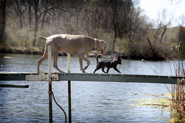 Weim and Chi on dock
