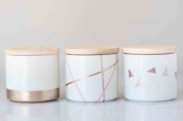 DIY Dog Project: Easy Geometric Treat Jars