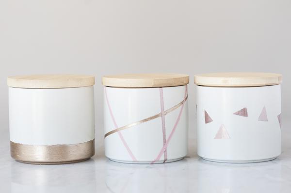 DIY Dog Project: Easy Geometric Treat Jars