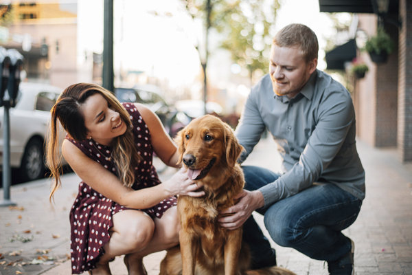 Boise engagement photos with dog