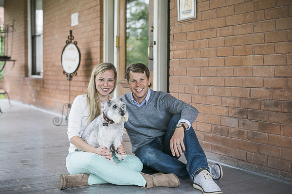© Courtney Sargent Photography | schnauzer and family portraits on porch
