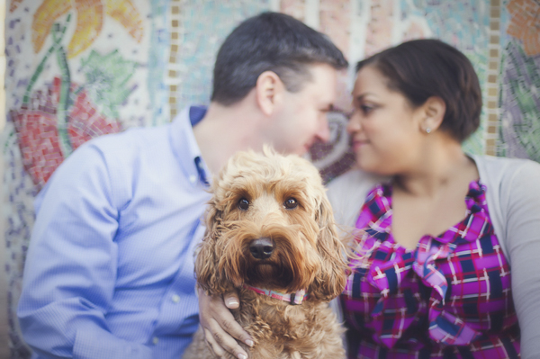 Labradoodle-engagement photos, Charlotte-engagement photography