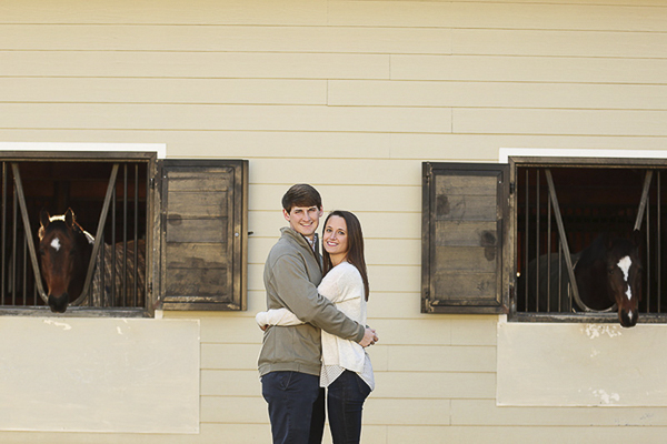 © Two Chics Photography | couple at horse barn