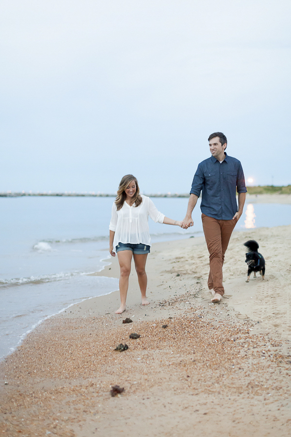 Luke & Ashley Photography, beach dog engagement