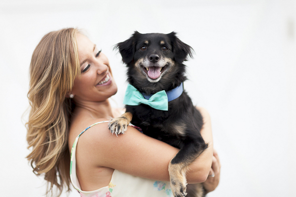 Luke & Ashley Photography, girl and her dog, dog in blue bow tie
