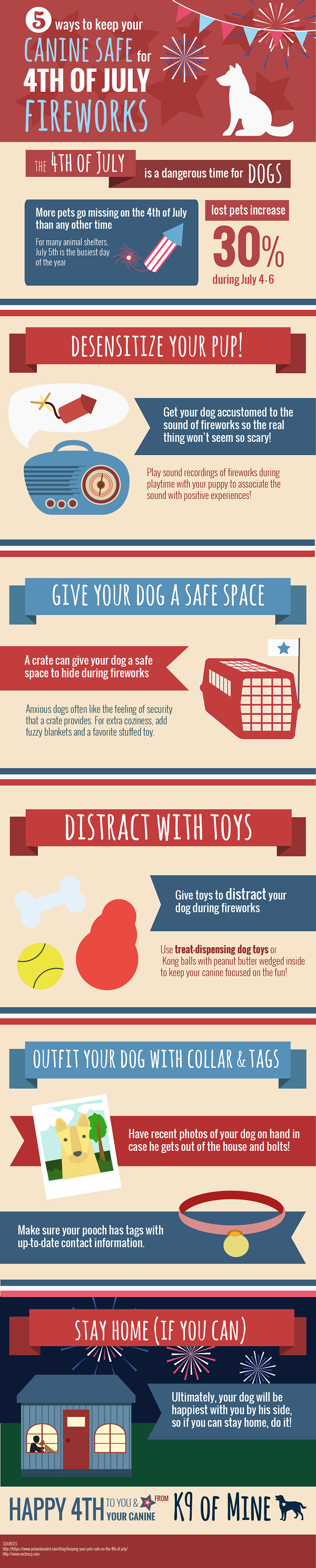 Infographic 5 Tips To Keep Dogs Safe 4th of July