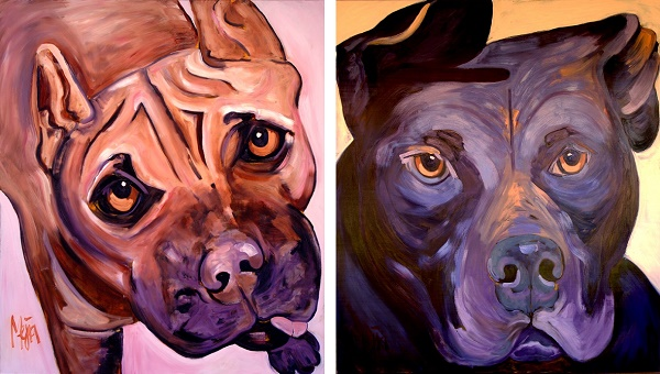 Georgia-Mya-©Cyrus Mejia | dog portraits, Pits And Perception, oil paintings