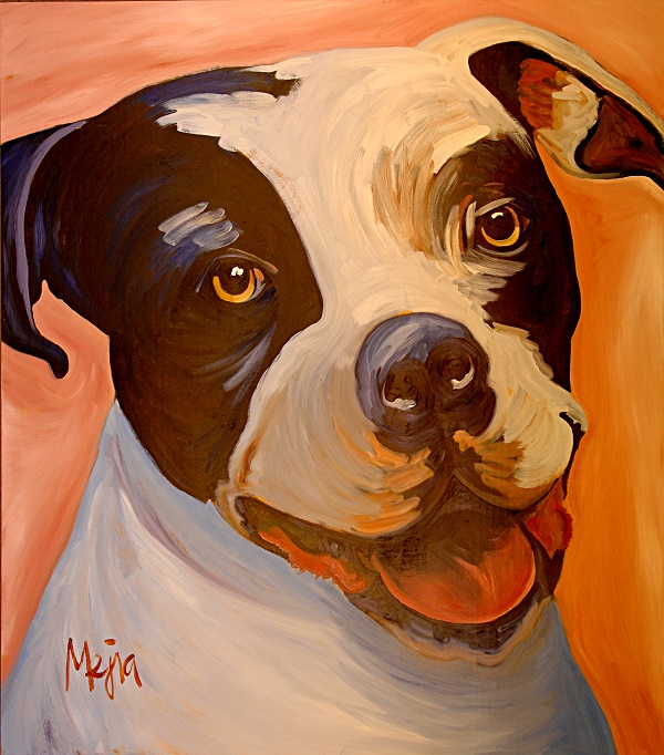 ©Cyrus Mejia | pit bull portrait, Pits And Perception, Raven's Heart Gallery, Kanab,Utah
