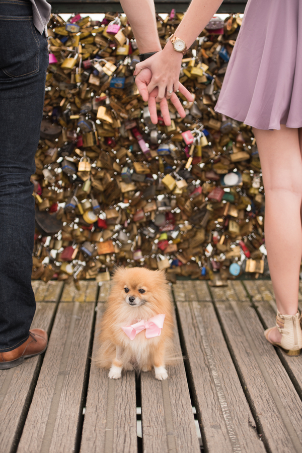 © Pictours Paris, Love Locks, Paris engagement photos
