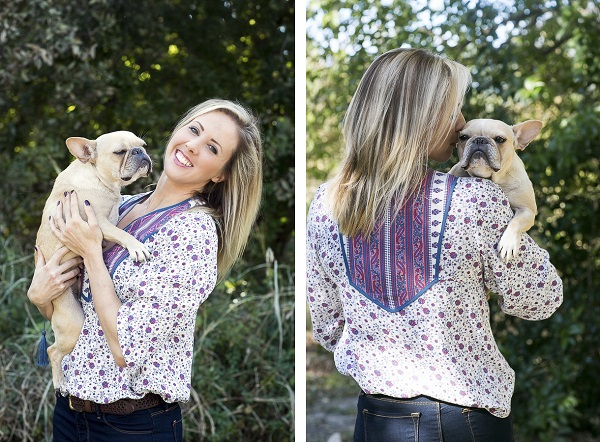 Rachael Hall Frenchie and her girl