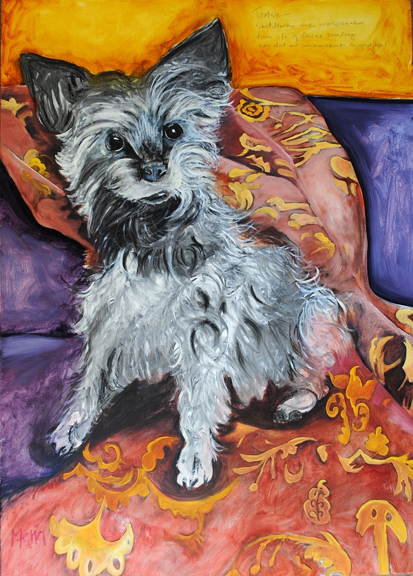 Tootsie ©Cyrus Mejia | Mill Dogs Revenge, oil paintings