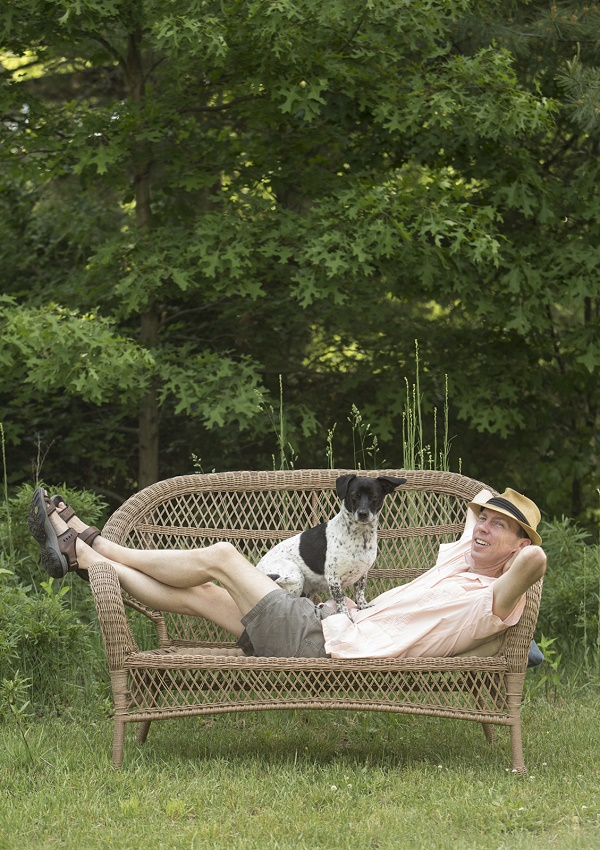 Dean Jones and dog by James Fossett