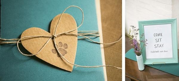 Styled Dog Themed Wedding Details, © Mandy Whitley Photography |