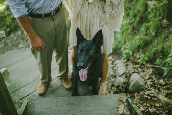 Greta Tucker engagement photos with black German Shepherd