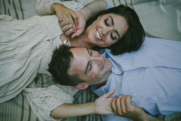 Greta Tucker engagement photos, woman, man lying down on blankets