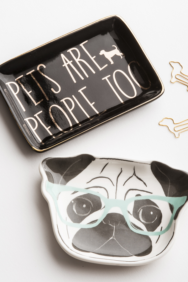 dog-lovers-desk-accessories, dog themed trinket trays