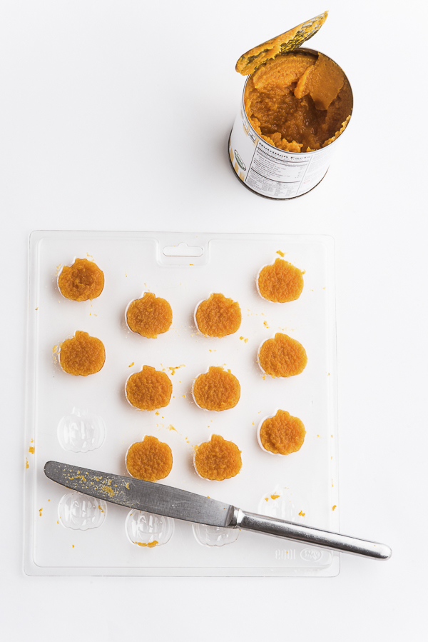 filling mold for pumpkin-treats-for-dogs,