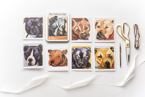Daily Dog Tag-Vicktory Dogs -greeting cards by Cyrus Mejia