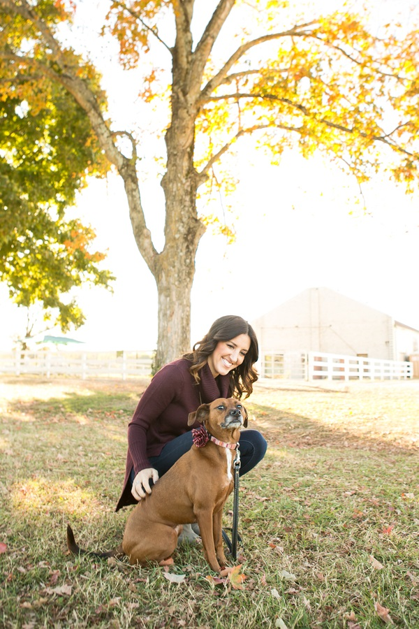 dog and woman, fall day at farm_nashville-lifestyle-photography