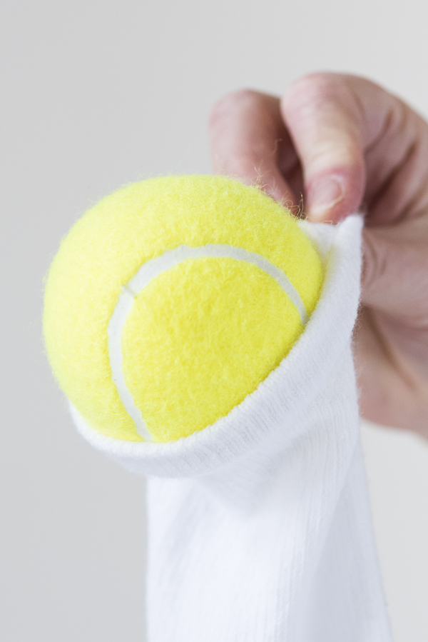 Daily Dog Tag - DIY Dog Toy, tennis ball in sock