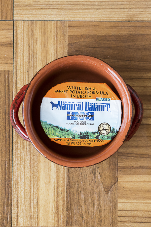 Daily Dog Tag - Natural Balance Dog Food, wet food in orange bowl