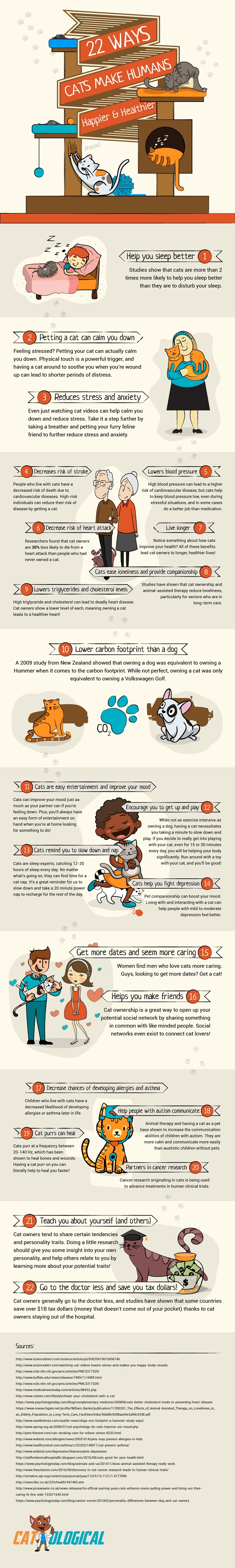 ways cats make life better for humans, cat infographic
