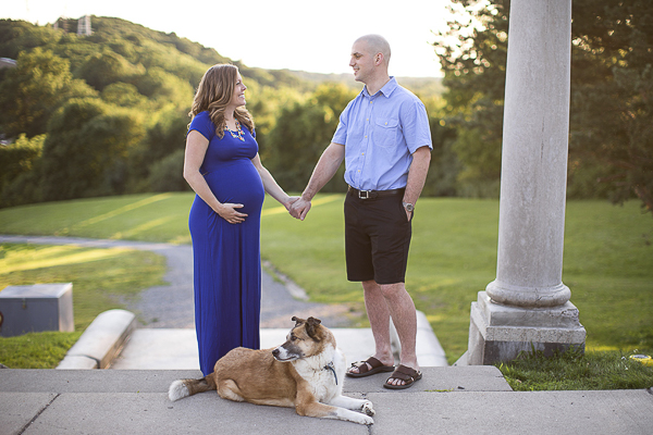 maternity session with Collie-Shepherd, Western NY maternity session with dog