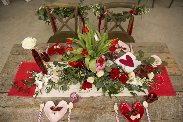 Valentine's Day Party for dogs, tablescape