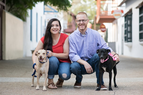 dogs are family, engagement pictures with dogs