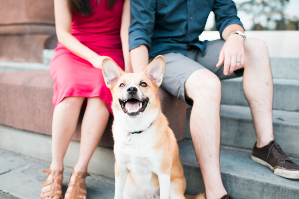 smiling puppy and humans, lifestyle photography