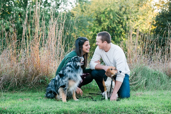 dogs and their people, engagement pictures with dogs