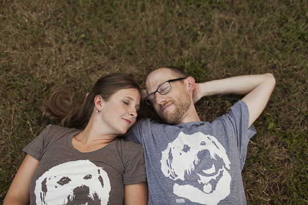 couple wearing t-shirts with their dogs face on it, custom made shirt, gifts for dog lovers
