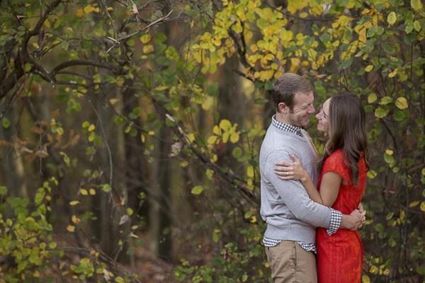 beautiful fall engagement photography