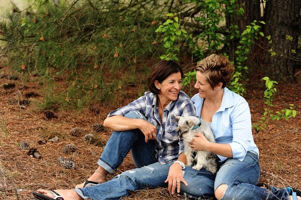 Carolina engagement photos with dog