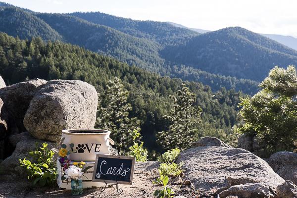 dog wedding details, Colorado elopement