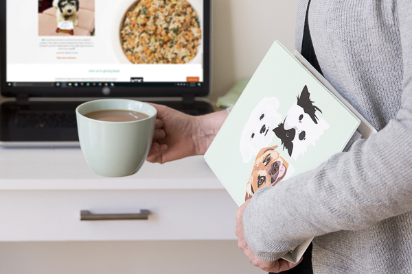 Ordering NomNomNow, custom planner with dogs on it