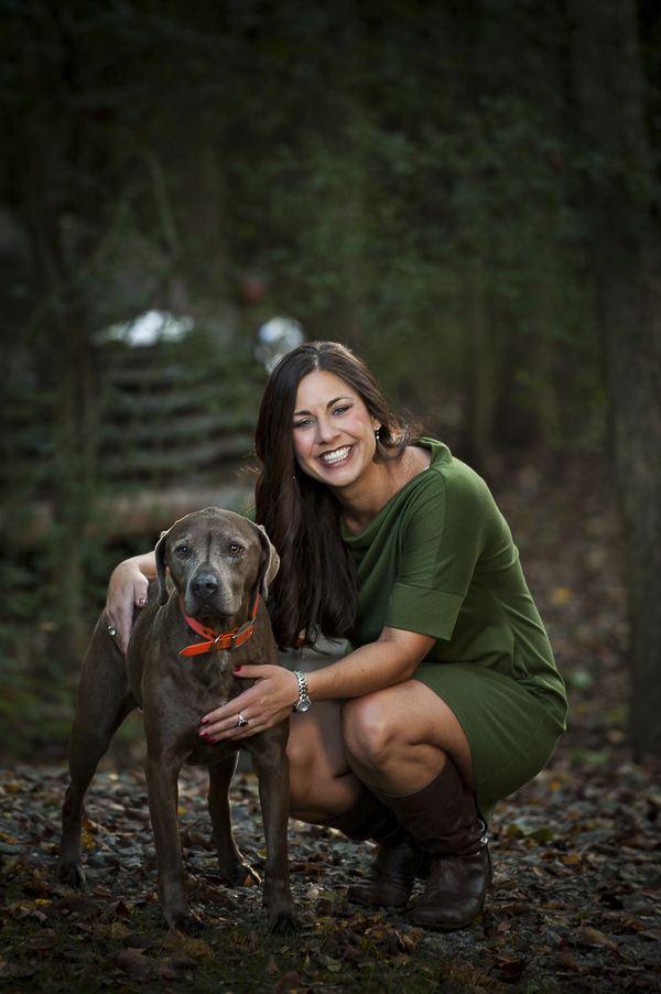 lifestyle dog photography, woman and dog