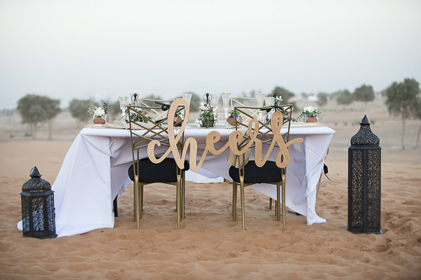 Dubai, desert wedding details