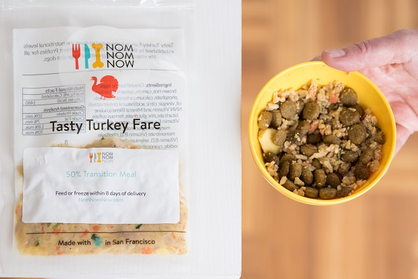 NomNomNow review, transitioning dog to new dog food