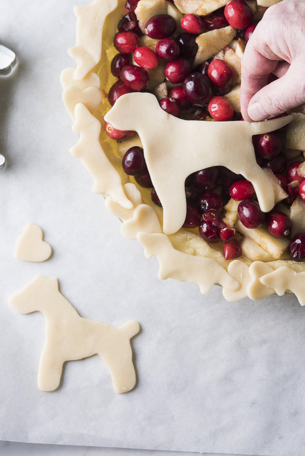 dog cut outs, dog themed pie, Thankful for Dogs
