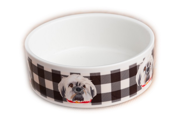custom portrait, pet water bowl, Noble Friends Shop