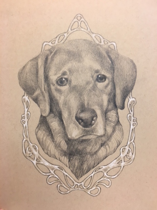 retriever portrait, personalized gift idea