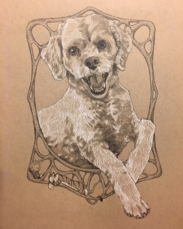 gift idea for pet parent, ©Draw Dawgs | hand drawn dog portraits