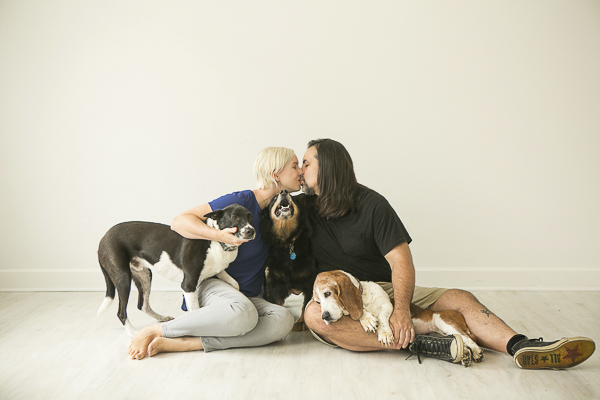 family portrait with dogs, ©Mandy Whitley Photography | photography for pets and their people