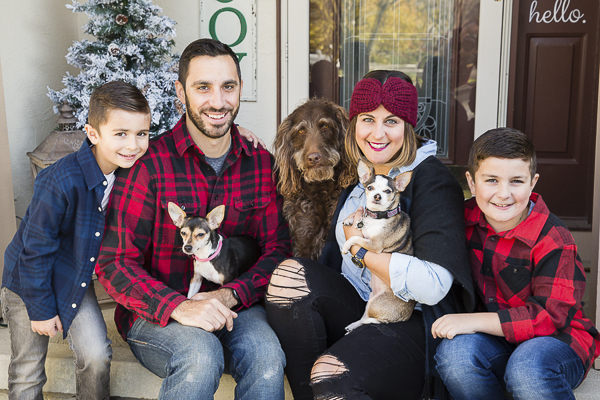 fun Christmas photos with dogs, foster dog