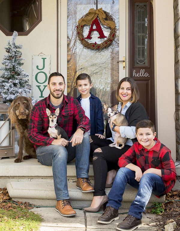 holiday photos with dogs, fostering dogs