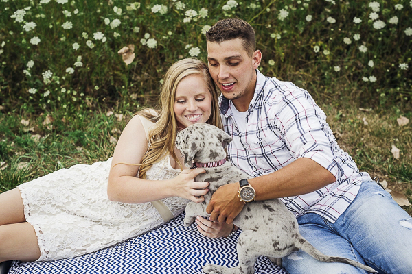 couple and their puppy, lifestyle family photos