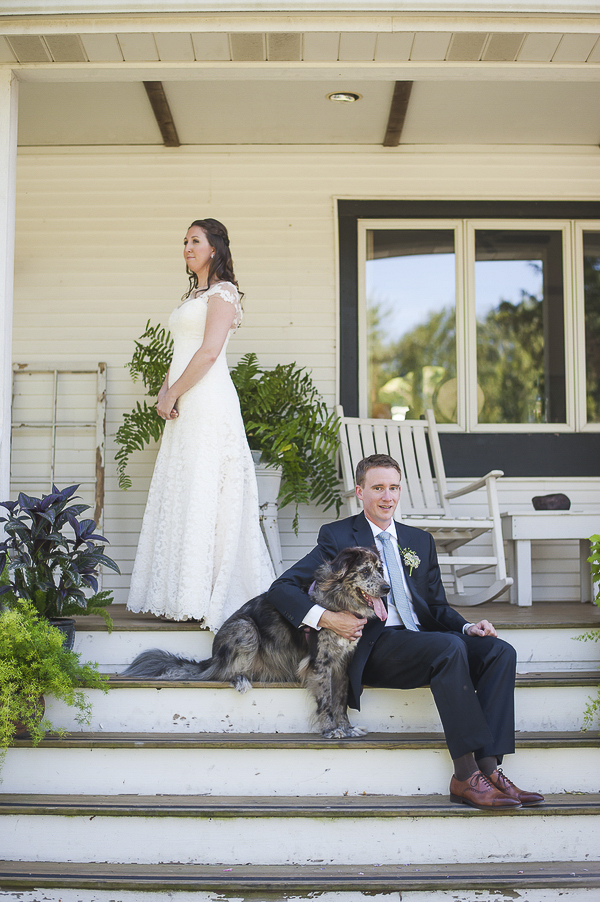 when a first look doesn't involve looking at each other, wedding dog photography