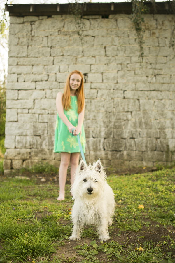 girl and her dog, lifestyle dog photography