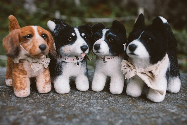 fuzzy replicas of dogs, creative ways to include dogs
